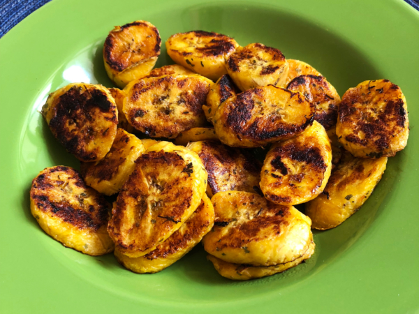 Oil Free Grilled Plantains