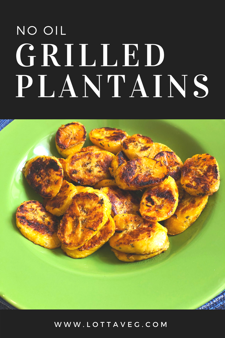 Oil Free Grilled Plantains Pin