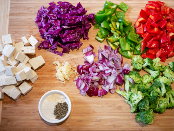 Tahini Stir Fry Prep 1