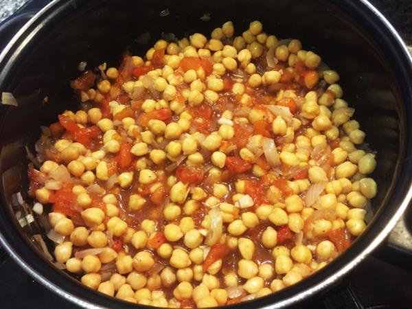 Vegan Chana Masala Prep 9