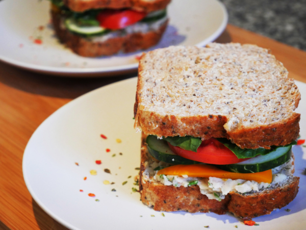 White Bean Dip Sandwich