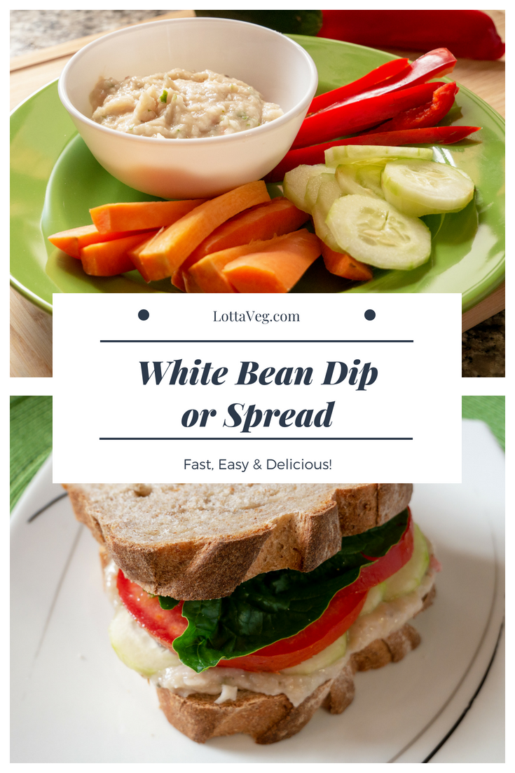White Bean Dip Spread Pin