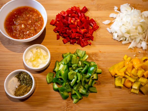 Vegan Mexican Stir Fry Prep 1
