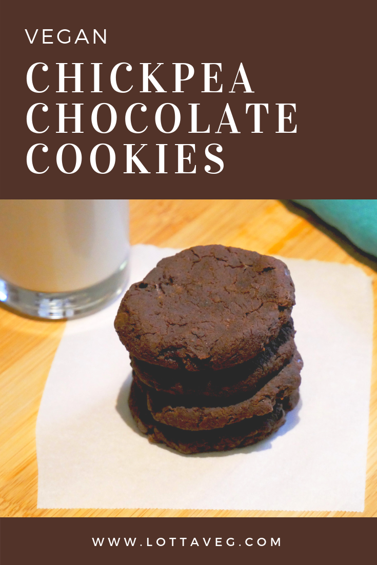 Chickpea Chocolate Cookies Pin