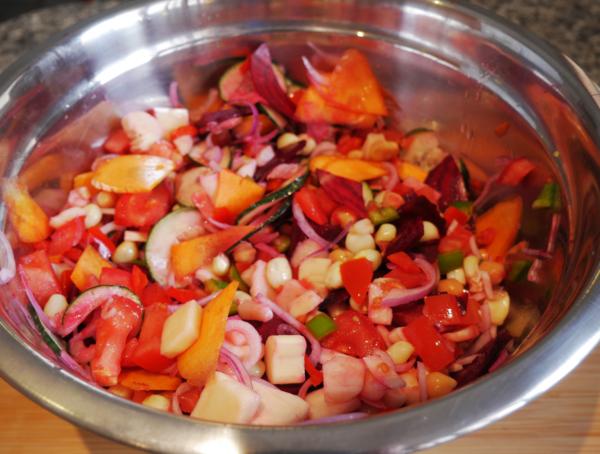 Easy Garden Salad Prep 4