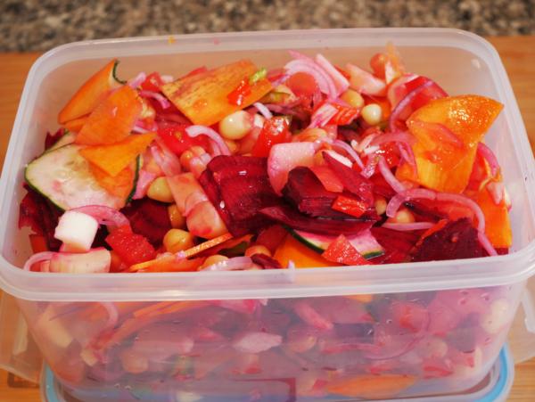 Easy Garden Salad Prep 5