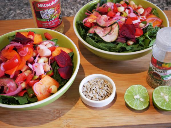 Easy Garden Salad Prep 8