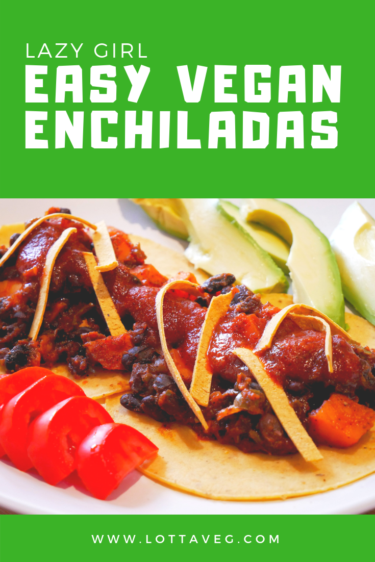 Easy Vegan Enchiladas Pin