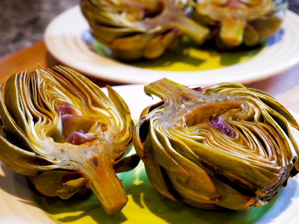 Easy Vegan Artichokes