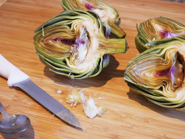 Vegan Artichokes Prep 3