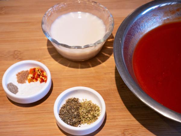 Vegan Red Lentil Bolognese Prep 4
