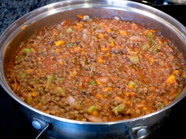 Vegan Red Lentil Bolognese Prep 7